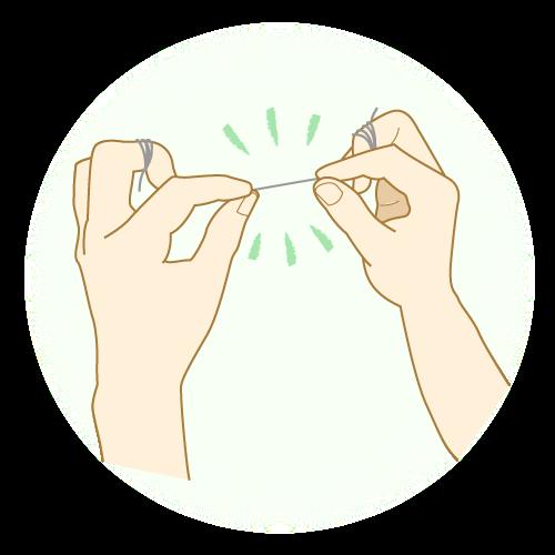 糸ようじ(フロス)の使い方を知ってお口の中を健康にしよう!